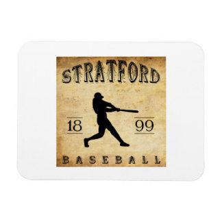 1899 Stratford Ontario Canada Baseball Vinyl Magnet