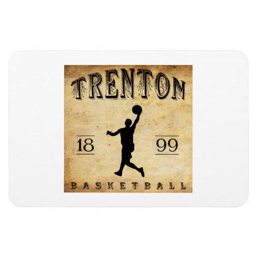 1899 Trenton New Jersey Basketball Rectangular Magnets