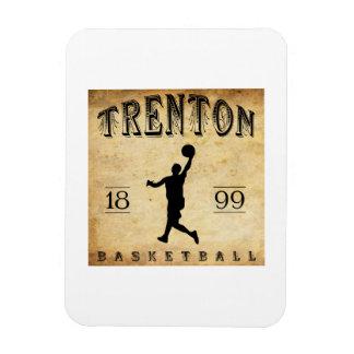 1899 Trenton New Jersey Basketball Vinyl Magnet