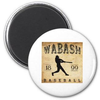 1899 Wabash Indiana Baseball 6 Cm Round Magnet