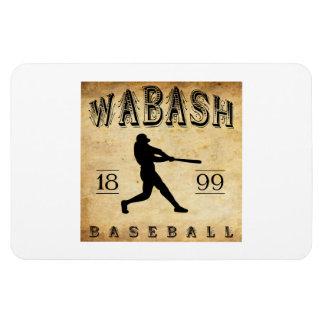 1899 Wabash Indiana Baseball Rectangular Magnet