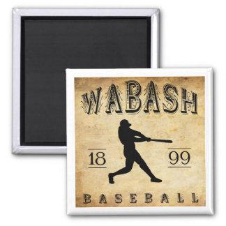 1899 Wabash Indiana Baseball Square Magnet