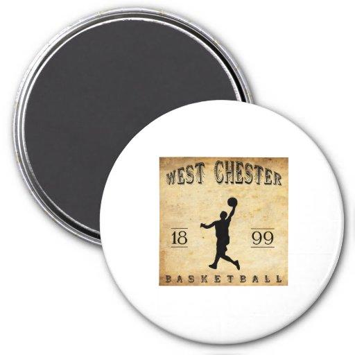 1899 West Chester Pennsylvania Basketball Refrigerator Magnet