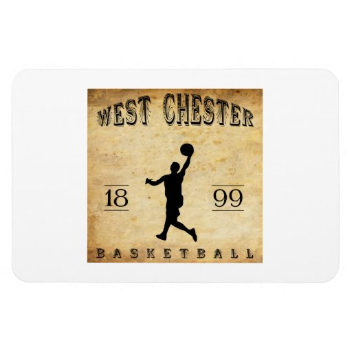1899 West Chester Pennsylvania Basketball Rectangle Magnets