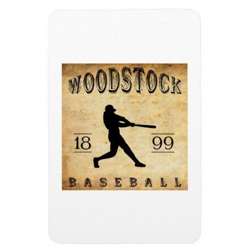 1899 Woodstock Ontario Canada Baseball Rectangle Magnet