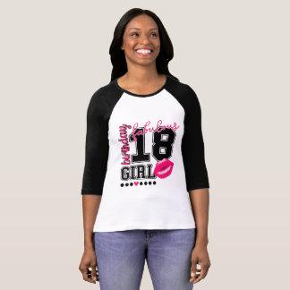 18. Birthday 18th birthday girl pink Kiss T-Shirt