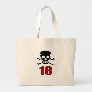 18 Birthday Designs Large Tote Bag