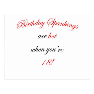 18  Birthday spankings are hot! Postcard