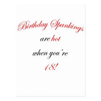 18  Birthday spankings are hot! Postcard