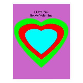 18 Color Hearts You Choose U Design jGibney Postcard