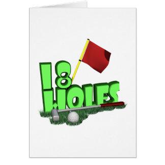 18 Holes Card