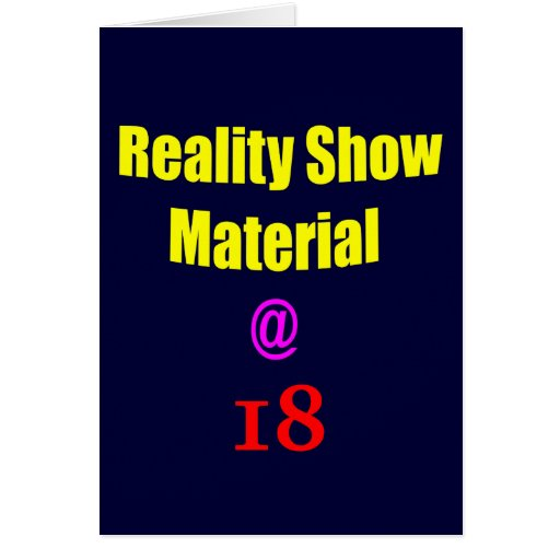 18 Reality Show Material Card