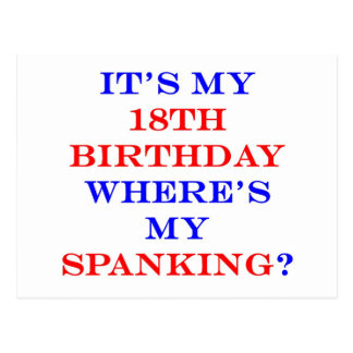 18 Where's my spanking? Postcard