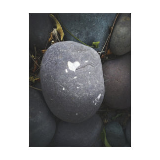 "18""x24"" Heart on Pebble Canvas Print"