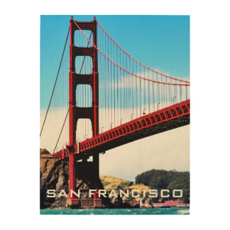 18 X 24 GOLDEN GATE BRIDGE WOOD WALL ART