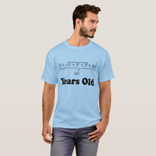 47467163 18 Years Old Algebra Equation Funny 18th Birthday T-Shirt