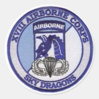 18th  Airborne Classic Round Sticker