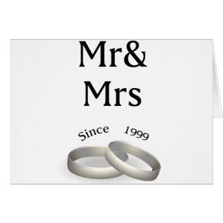 18th anniversary matching Mr. And Mrs. Since 1999 Card