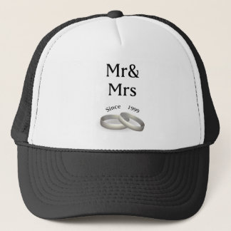 18th anniversary matching Mr. And Mrs. Since 1999 Trucker Hat