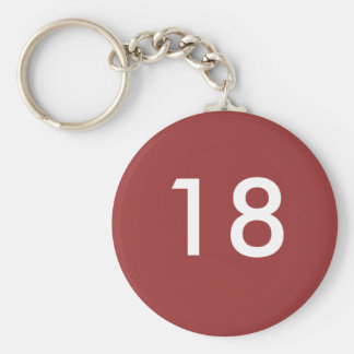 18th basic round button key ring