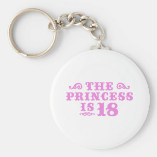 18th Birthday Basic Round Button Key Ring