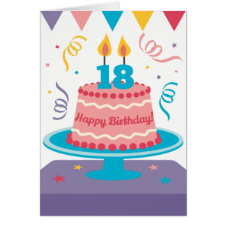 18th Birthday Cake Card