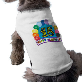 18th Birthday Gifts with Assorted Balloons Design Shirt