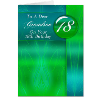 18th Birthday Grandson Modern Card