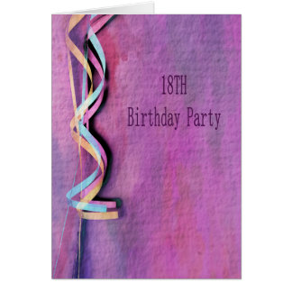 18th birthday party card
