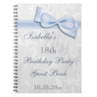 18th Birthday Party Damask and Bow Note Book