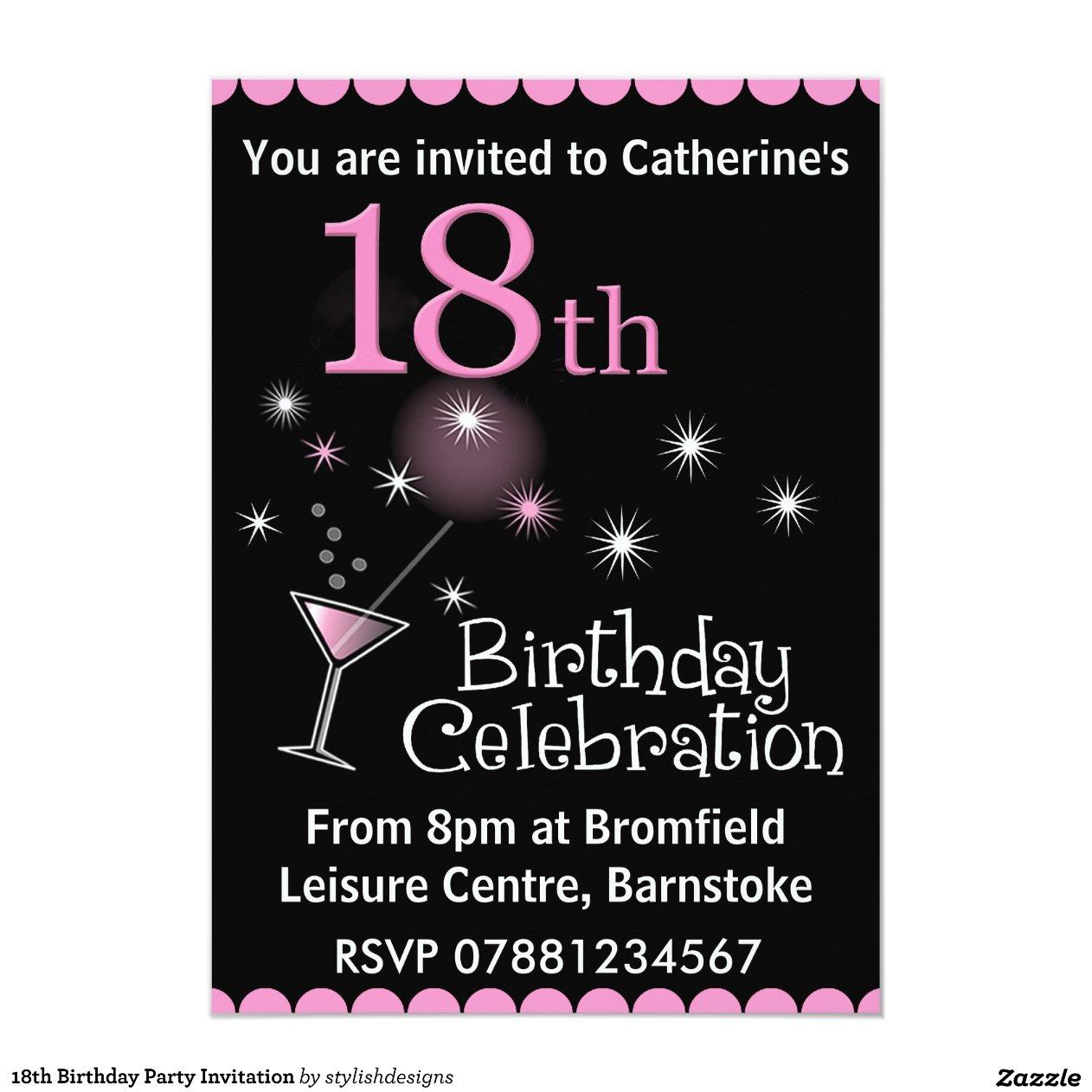 18th Birthday Party Invitation | Zazzle