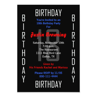 18th Birthday Party Invitation 18