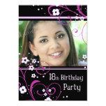 18th Birthday Party Photo Invitation Card