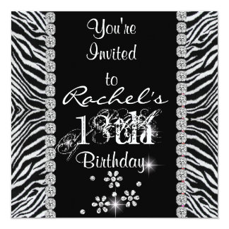 18th Birthday Party WITH ANIMAL DESIGN  INVITATION