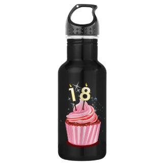 18th Birthday - Pink Cupcake 532 Ml Water Bottle