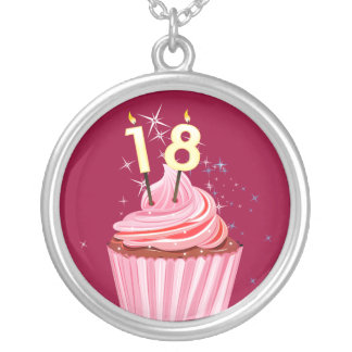 18th Birthday - Pink Cupcake Custom Jewelry