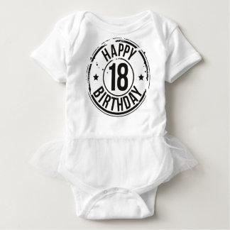 18TH BIRTHDAY STAMP EFFECT BABY BODYSUIT