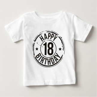 18TH BIRTHDAY STAMP EFFECT BABY T-Shirt