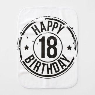 18TH BIRTHDAY STAMP EFFECT BURP CLOTH