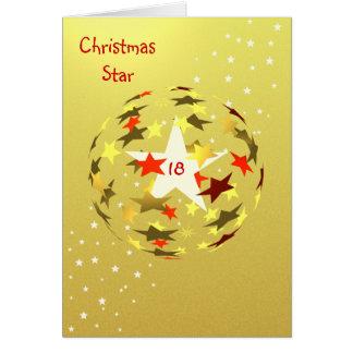 18th Birthday Star Globe Card
