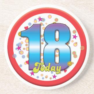 18th Birthday Today v2 Coasters