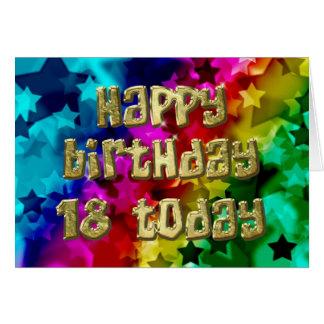 18th Bright stars birthday card
