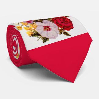 18th  century flower bouquet flower arrangement tie
