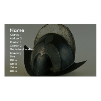 18th century helmet, Malbork, Poland Business Card Templates