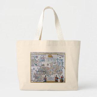 18th Century Map of Japan Jumbo Tote Bag