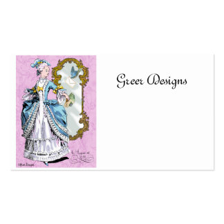 18th Century Marie Antoinette Style Business Cards