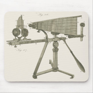 18th Century Microscope Antique Science INSTRUMENT Mouse Pad