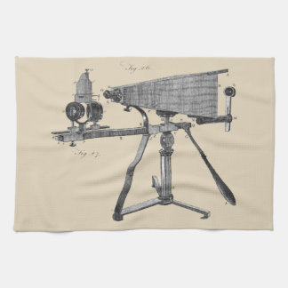 18th Century Microscope Antique Science INSTRUMENT Tea Towel