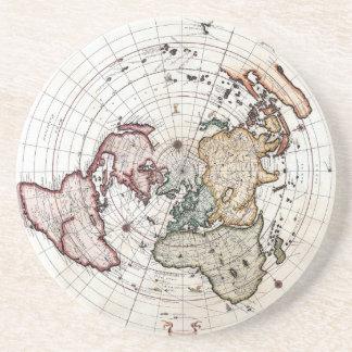 18'th Century Polar Map Coaster