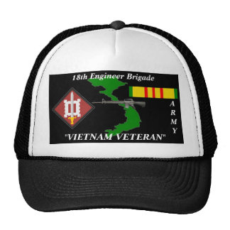 18th Engineer Brigade Vietnam Veteran Ball Caps Mesh Hats